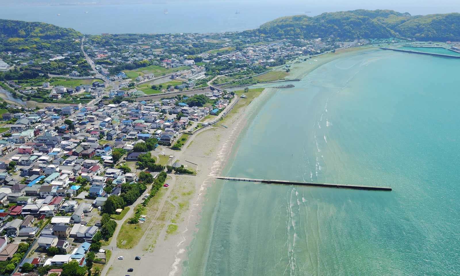 原岡海岸の空撮画像